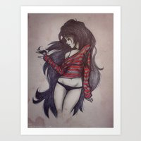marceline Art Prints featuring Marceline by Sara Saeed