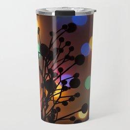 Holly Berries and Christmas Lights Travel Mug