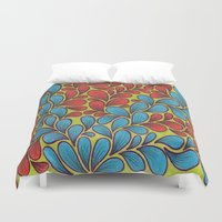 good vibes Duvet Covers featuring Good Vibes by Sarah J Bierman