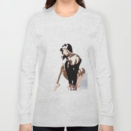 Woman Digital Painting Simply Modern Long Sleeve T-shirt