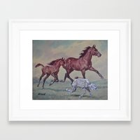 thegnarledbranch Framed Art Prints featuring Wild, Young and Free by TheGnarledBranch