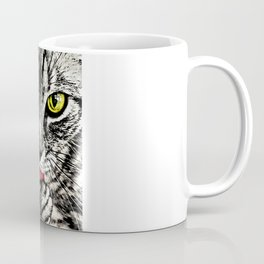 Grooming Tabby Cat Coffee Mug