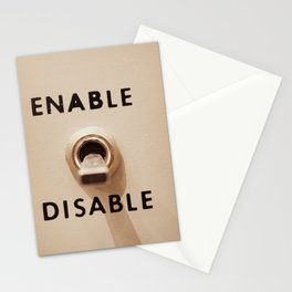 Enable Disable Switch Stationery Cards