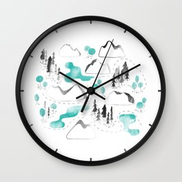Outdoor map Wall Clock