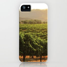 Wine Country Morning iPhone Case