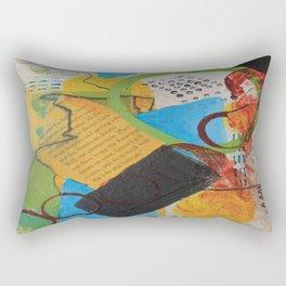 Messy Circles Rectangular Pillow