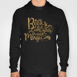 Books are a Uniquely Portable Magic Gold Hoody