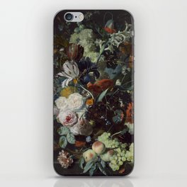 Jan van Huysum Still Life with Flowers and Fruit iPhone Skin