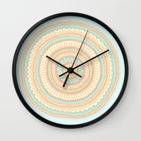 carousel Wall Clocks featuring Carousel by Anita Ivancenko