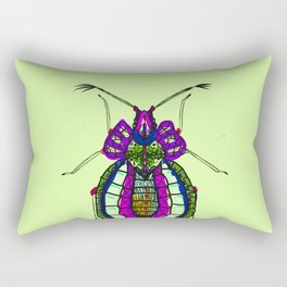 Bejeweley beetle cool lime Rectangular Pillow
