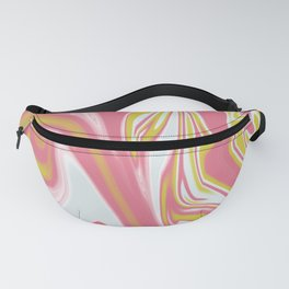 Abstract marble-elegant personality- dreamscape-watercolor-painting artwork-pink yellow-art Fanny Pack