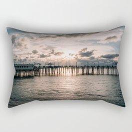 Redondo Beach Pier Rectangular Pillow