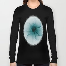 Dark Flower Fractal Long Sleeve T-shirt