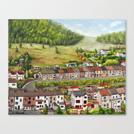 Cwm Parc, Treorchy, South Wales Valleys Canvas Print