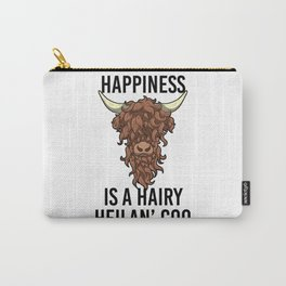 Happiness Is A Harry Heilan' Coo Highland Cow Carry-All Pouch