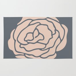 Rose Vintage Rose Pink on Pebble Gray Rug