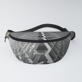 Abstract City Architecture Pittsburgh Black and White Fanny Pack