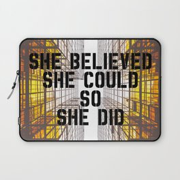She Did Laptop Sleeve
