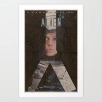 alien Art Prints featuring Alien by JAGraphic