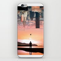 cityscape iPhone & iPod Skins featuring Cityscape by Enkel Dika