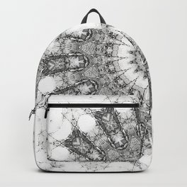 Black Mandala Art Backpack