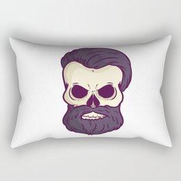 Skull With A Beard HIpster Beard Love Rectangular Pillow
