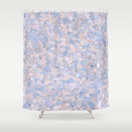 Light pink and blue popcorn 4647 Shower Curtain