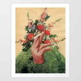 Smoking Flowers Art Print