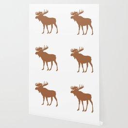 Moose: Brown Wallpaper