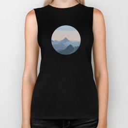 Pastel Sunset over Blue Mountains Biker Tank