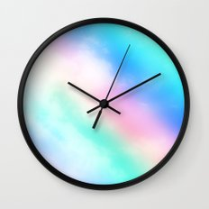 Rainbow Pastel Wall Clock
