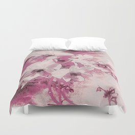 Flowers on the wall Duvet Cover