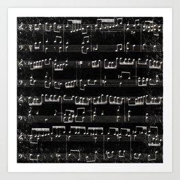 Nota Bene (black) Art Print