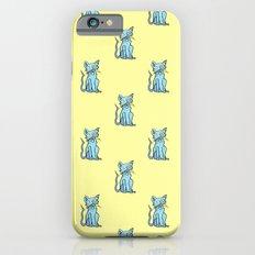 Crazy Cat (Blue/Yellow) iPhone 6s Slim Case