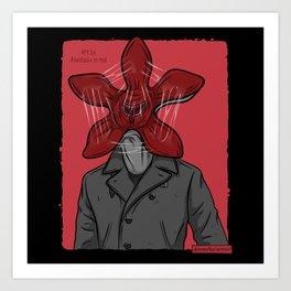 Creature in a coat Art Print