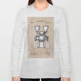 patent art Wear Combined Coffee grinder and cleaner 1911 Long Sleeve T-shirt