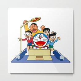Doraemon Future Transportation Metal Print