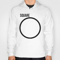 square Hoodies featuring SQUARE by try2benice