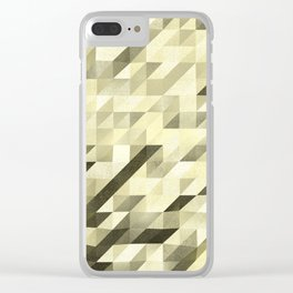 Slanted Squares - Sand - Modern Angular Pattern Clear iPhone Case