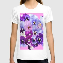 SPRING COLLECTION PURPLE-PINK PANSIES T-shirt