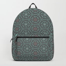 Going Round and Round - Pink/Aqua/Grey Backpack