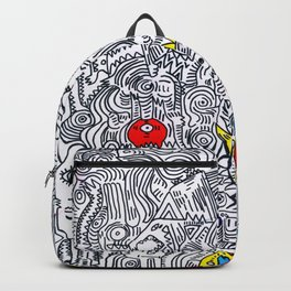 Pattern Doddle Hand Drawn  Black and White Colors Street Art Backpack
