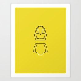 SS16 Yellow Swimsuit Art Print