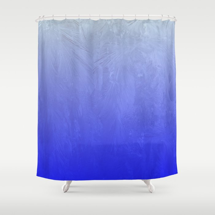 Blue Ice Glow Shower Curtain