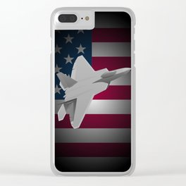 F-22 Raptor Military Fighter Jet Clear iPhone Case
