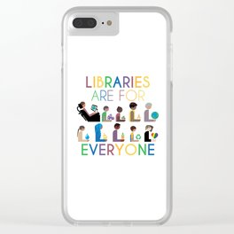 Rainbow Libraries Are For Everyone Clear iPhone Case
