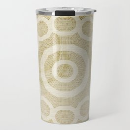 Rivet pattern on stained paper Travel Mug