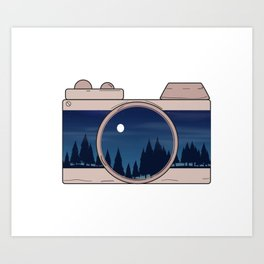 Camera Shooting the Forest Art Print