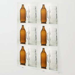 Beer bottle giant glass couple Wallpaper