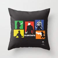 guardians Throw Pillows featuring Guardians by PeterParkerPA